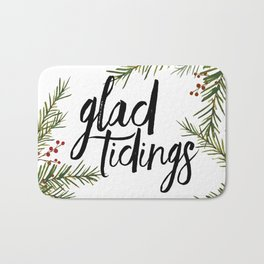 A glad tidings holiday Bath Mat