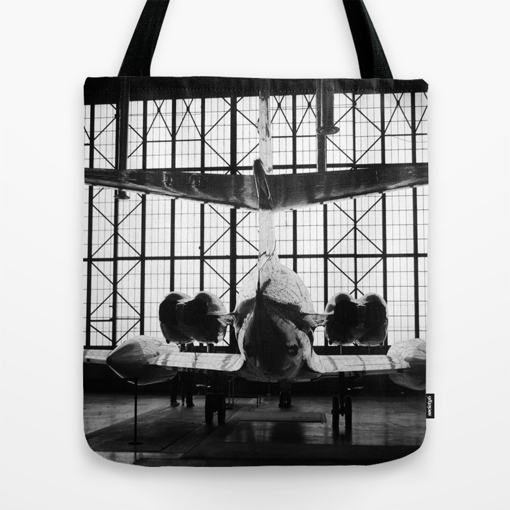 Vintage Plane In The Hangar Tote Bag by Kimberosephotography TBG871385