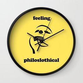 Feeling Philoslothical Wall Clock