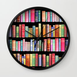 Antique Book Library for Bibliophile Wall Clock