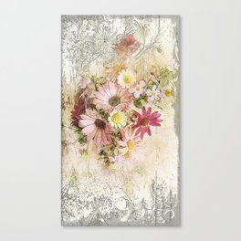 Sugar Sweet Shabby Chic Floral Canvas Print
