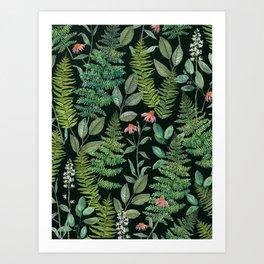 Pacific Northwest Plants Art Print