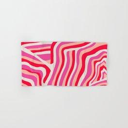 pink zebra stripes Hand & Bath Towel