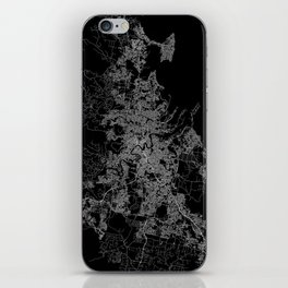 Brisbane map Australia iPhone Skin