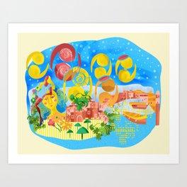 Summer Memories Pillow Art Print