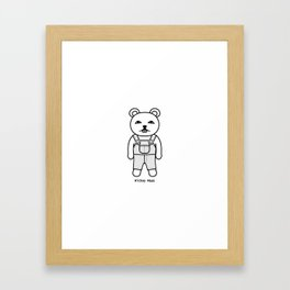 Rickey Maus in Overall Framed Art Print