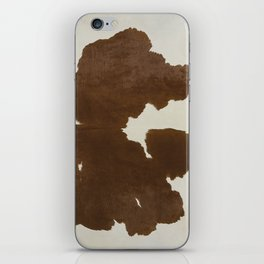 Dark Brown & White Cow Hide iPhone Skin