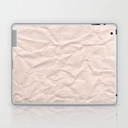 crumpled paper. Kraft paper Laptop & iPad Skin