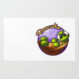 Cute trutle Pancake badge design Rug