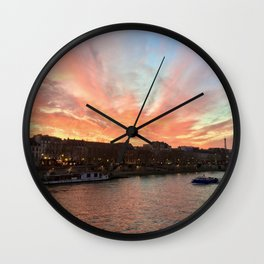 Parisien Sunset Wall Clock