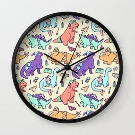 Dinosaur Panty Raid Wall Clock
