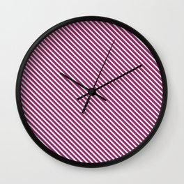 Festival Fuchsia Stripe Wall Clock