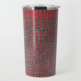 Left - Red and turquoise Travel Mug