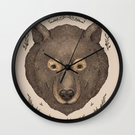 The Bear and Cedar Wall Clock