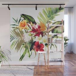 TROPICAL FLOWERS Wall Mural