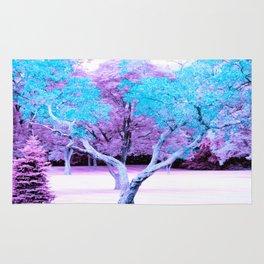 Turquoise Lavender Fantasy Landscape Rug