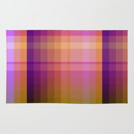 Complimentary Color harmony yellow/purple 2 Rug