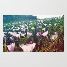 Field of Pink Evening Primrose - Texas Wildflowers Rug