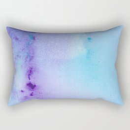 Philip Bowman Abstract Watercolor Art Blue And Purple Modern Painting Rectangular Pillow