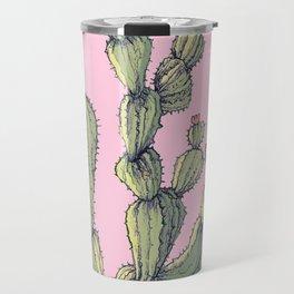Big Cactu on Pink Travel Mug