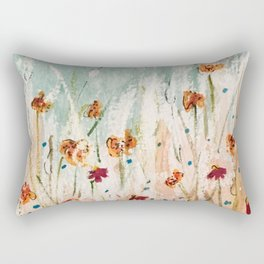 Tiger Lilies, Coneflowers, & Those Blue Things Rectangular Pillow