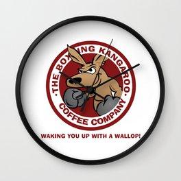 Boxing Kangaroo Coffee Company Wall Clock