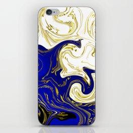blue ,gold,rose,black,golden fractal, vibrations, circles modern pattern, iPhone Skin