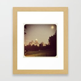 Central park at night... Framed Art Print