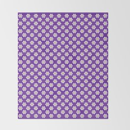 A Lot of Daisies - Purple Throw Blanket