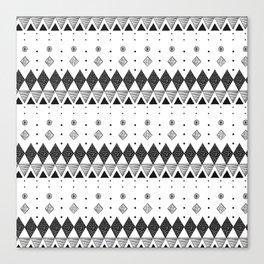 Geometric Screen Print Canvas Print