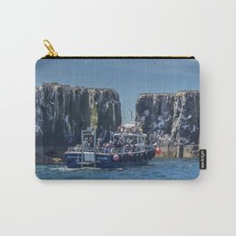 Passengers on board a boat at the farne Islands, Northumberland Carry-All Pouch