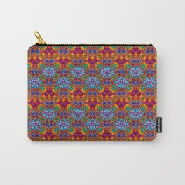 Batik Rainbow Zigzags Carry-All Pouch