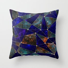 Stars Connections Throw Pillow