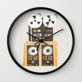 Reel to Reel Player Wall Clock