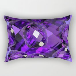 PURPLE AMETHYST FACETED  JEWEL GEMS BIRTHSTONE Rectangular Pillow