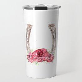Derby Horseshoe, Roses, Kentucky, Races Travel Mug
