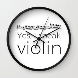Do you speak violin? Wall Clock