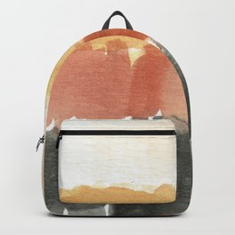Abstract in Rust n Clay Backpack