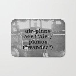 Airplane Definition Bath Mat