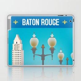 Baton Rouge, Louisiana - Skyline Illustration by Loose Petals Laptop & iPad Skin