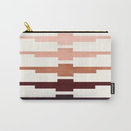Mid Century Minimalist Ancient Aztec Inca Geometric Pattern Watercolor Raw Umber Colorful Gouache Pa Carry-All Pouch