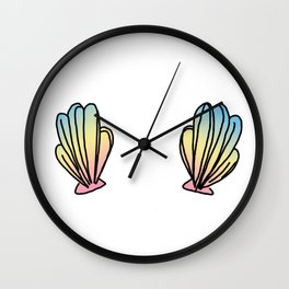 Mermaid Shells Wall Clock