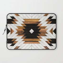 Urban Tribal Pattern No.5 - Aztec - Concrete and Wood Laptop Sleeve