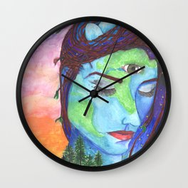 Mother Earth and a Sunset Wall Clock