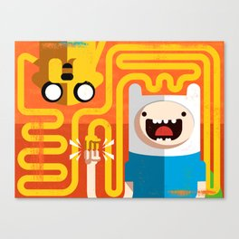 Finn & Jake - PopGeometry #4 Canvas Print