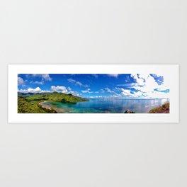 Kahana Bay, Oahu, Hawaii Art Print