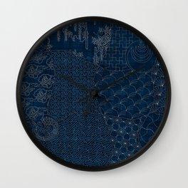Sashiko - random sampler Wall Clock