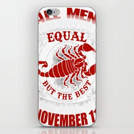 Best-Men-Are-Born-on-November-11---Scorpio---Sao-chép iPhone Skin