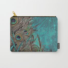 Painted Peacock Carry-All Pouch