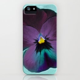 Purple viola tricolor iPhone Case
